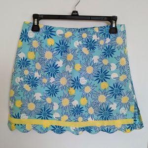 Lilly Pulitzer Blue Flower Mini Skirt